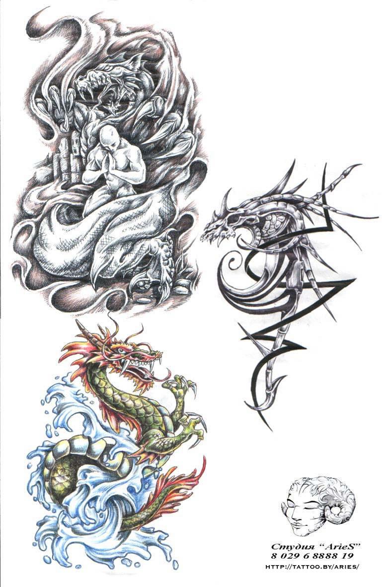 необычные рисунки тату