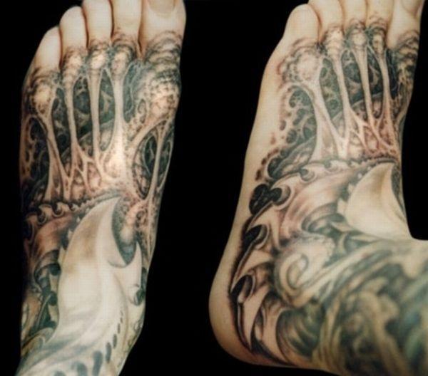 Татуировки с киборгами в кибер стиле